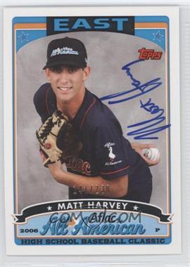 2010 Bowman Draft Picks & Prospects - Aflac All-American Certified Autographs #AFLAC-10 - Matt Harvey /230