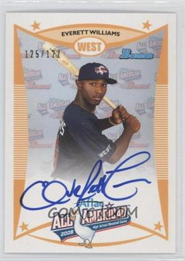 2010 Bowman Draft Picks & Prospects - Aflac All-American Certified Autographs #AFLAC-EW - Everett Williams /127