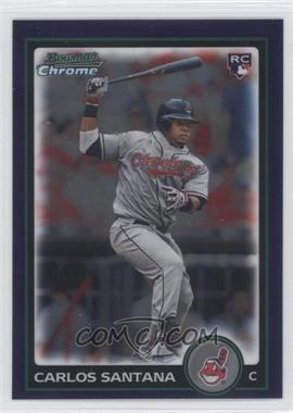 2010 Bowman Draft Picks & Prospects - Chrome - Purple Refractor #BDP69 - Carlos Santana