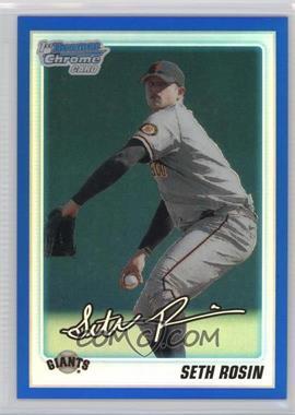 2010 Bowman Draft Picks & Prospects - Chrome Draft Picks - Blue Refractor #BDPP55 - Seth Rosin /199