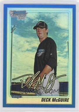 2010 Bowman Draft Picks & Prospects - Chrome Draft Picks - Blue Refractor #BDPP86 - Deck McGuire /199