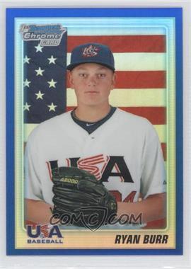 2010 Bowman Draft Picks & Prospects - Chrome Draft Picks - Blue Refractor #BDPP96 - Ryan Burr /199