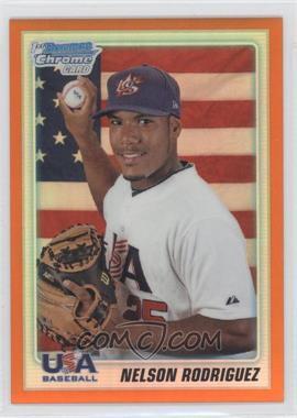 2010 Bowman Draft Picks & Prospects - Chrome Draft Picks - Orange Refractor #BDPP107 - Nelson Rodriguez /25
