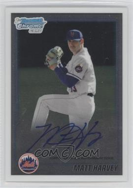 2010 Bowman Draft Picks & Prospects - Chrome Prospects Certified Autographs - [Autographed] #BDPP84 - Matt Harvey