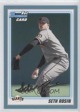 2010 Bowman Draft Picks & Prospects - Draft Picks - Blue #BDPP55 - Seth Rosin /399
