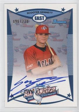 2010 Bowman Draft Picks & Prospects Aflac All-American Certified Autographs #AFLAC-SGE - Scooter Gennett /230