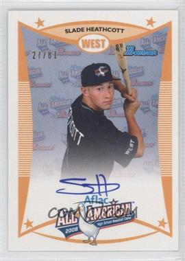 2010 Bowman Draft Picks & Prospects Aflac All-American Certified Autographs #AFLAC-SH - Slade Heathcott /81