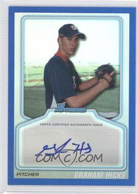 2010 Bowman Draft Picks & Prospects Certified Autographs Blue #BPA-GH - Graham Hicks /199