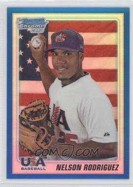 2010 Bowman Draft Picks & Prospects Chrome Draft Picks Blue Refractor #BDPP107 - Nelson Rodriguez /199