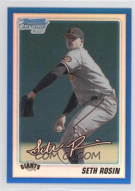 2010 Bowman Draft Picks & Prospects Chrome Draft Picks Blue Refractor #BDPP55 - Seth Rosin /199