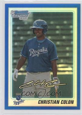 2010 Bowman Draft Picks & Prospects Chrome Draft Picks Blue Refractor #BDPP81 - Christian Colon /199