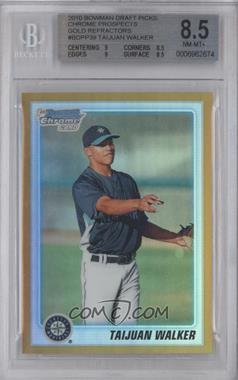 2010 Bowman Draft Picks & Prospects Chrome Draft Picks Gold Refractor #BDPP39 - Taijuan Walker /50 [BGS 8.5]