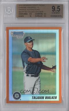 2010 Bowman Draft Picks & Prospects Chrome Draft Picks Orange Refractor #BDPP39 - Taijuan Walker /25 [BGS 9.5]