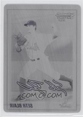 2010 Bowman Draft Picks & Prospects Chrome Draft Picks Printing Plate Black #BDPP28 - Seth Blair /1