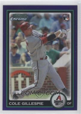 2010 Bowman Draft Picks & Prospects Chrome Draft Picks Purple Refractor #BDP101 - Cole Gillespie