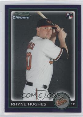 2010 Bowman Draft Picks & Prospects Chrome Draft Picks Purple Refractor #BDP97 - Rhyne Hughes