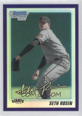 2010 Bowman Draft Picks & Prospects Chrome Draft Picks Retail Purple Refractor #BDPP55 - Seth Rosin