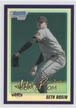 2010 Bowman Draft Picks & Prospects Chrome Draft Picks Retail Purple Refractor #BDPP55 - Seth Rosin