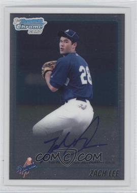 2010 Bowman Draft Picks & Prospects Chrome Prospects Certified Autographs [Autographed] #BDPP87 - Zach Lee