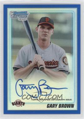 2010 Bowman Draft Picks & Prospects Chrome Prospects Certified Autographs Blue Refractor [Autographed] #BDPP70 - Gary Brown /150