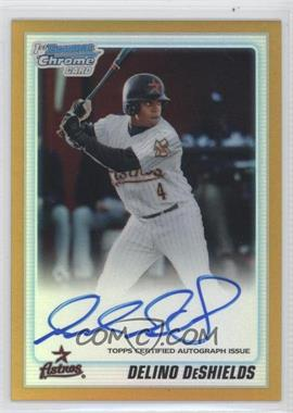 2010 Bowman Draft Picks & Prospects Chrome Prospects Certified Autographs Gold Refractor [Autographed] #BDPP83 - Delino DeShields Jr. /50