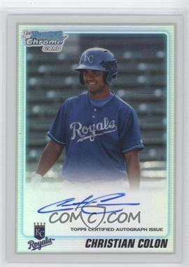 2010 Bowman Draft Picks & Prospects Chrome Prospects Certified Autographs Refractor [Autographed] #BDPP81 - Christian Colon /500