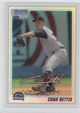 2010 Bowman Draft Picks & Prospects Chrome Prospects Refractor #BDPP24 - Chad Bettis