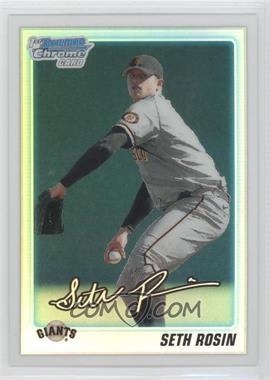 2010 Bowman Draft Picks & Prospects Chrome Prospects Refractor #BDPP55 - Seth Rosin