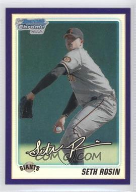 2010 Bowman Draft Picks & Prospects Chrome Prospects Retail Purple Refractor #BDPP55 - Seth Rosin