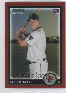 2010 Bowman Draft Picks & Prospects Chrome Red Refractor #BDP55 - Erik Kratz /5