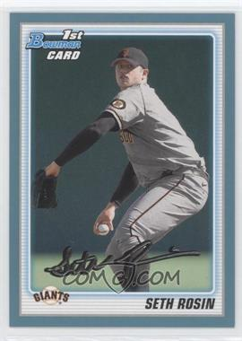 2010 Bowman Draft Picks & Prospects Draft Picks Blue #BDPP55 - Seth Rosin /399