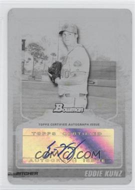 2010 Bowman Draft Picks & Prospects Prospects Autographs Printing Plate Black #BPA-EK - Eddie Kunz /1