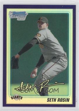 2010 Bowman Draft Picks & Prospects Retail Chrome Prospects Purple Refractor #BDPP55 - Seth Rosin