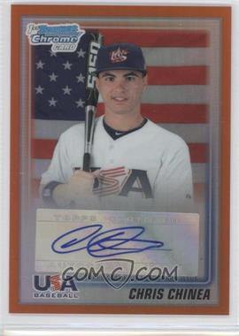 2010 Bowman Draft Picks & Prospects USA Team Certified Autograph Orange Refractor [Autographed] #USAA-7 - Chris Chinea /25