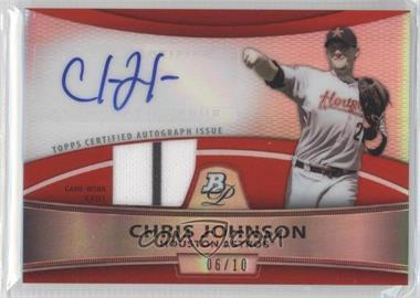 2010 Bowman Platinum - Autographed Relic Refractor - Red Patch #PAR-CJ - Chris Johnson /10
