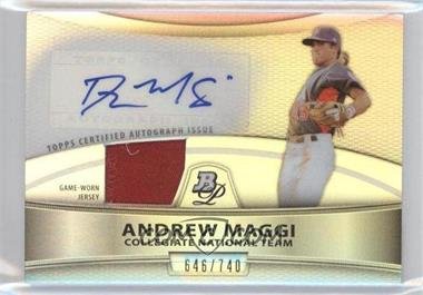 2010 Bowman Platinum - Autographed Relic Refractor #PAR-AM - Andrew Maggi /740