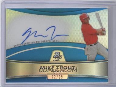 2010 Bowman Platinum - Chrome Autograph Refractor - Blue #BPA-MT - Mike Trout /99