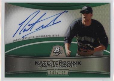 2010 Bowman Platinum - Chrome Autograph Refractor - Green #BPA-NT - Nate Tenbrink /199