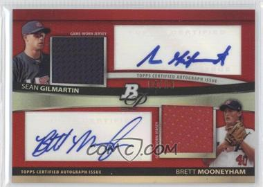 2010 Bowman Platinum - Dual Autograph & Relic Refractor - Red #BPDAR-GM - Sean Gilmartin, Brett Mooneyham /10