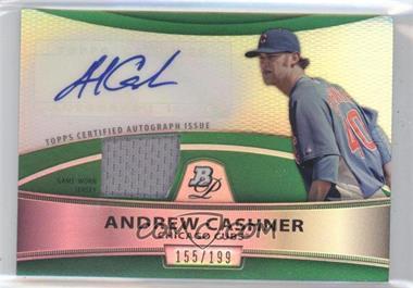 2010 Bowman Platinum Autographed Relic Green Refractor #PAR-AC - Andrew Cashner /199