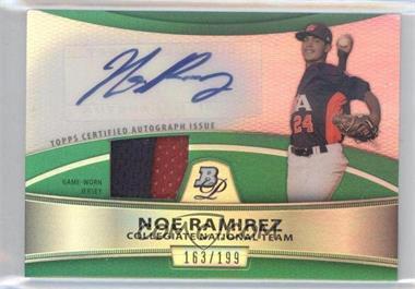 2010 Bowman Platinum Autographed Relic Green Refractor #PAR-N/A - Noe Ramirez /199