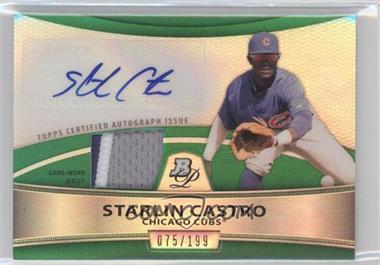 2010 Bowman Platinum Autographed Relic Green Refractor #PAR-SC - Starlin Castro /199