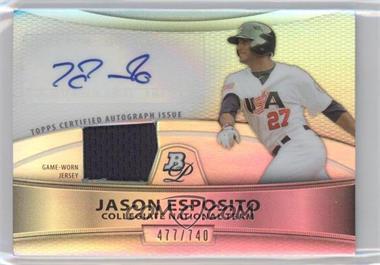 2010 Bowman Platinum Autographed Relic Refractor [Autographed] #PAR-JE - Jason Esposito /740