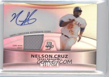 2010 Bowman Platinum Autographed Relic Refractor [Autographed] #PAR-NC - Nelson Cruz /740