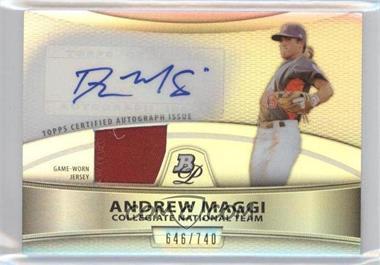 2010 Bowman Platinum Autographed Relic Refractor #PAR-AM - Andrew Maggi /740