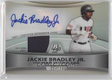2010 Bowman Platinum Autographed Relic Refractor #PAR-JB - Jackie Bradley Jr. /740