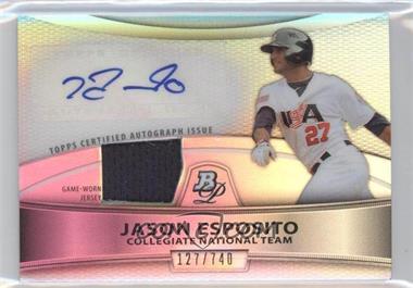 2010 Bowman Platinum Autographed Relic Refractor #PAR-JE - Jason Esposito /740
