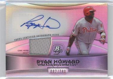 2010 Bowman Platinum Autographed Relic Refractor #PAR-RH - Ryan Howard /740