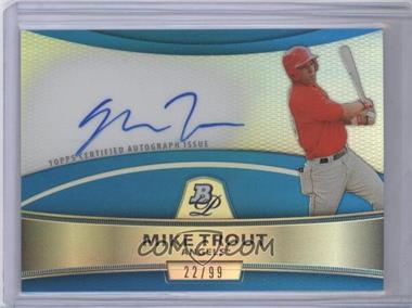2010 Bowman Platinum Chrome Autograph Blue Refractor #BPA-MT - Mike Trout /99
