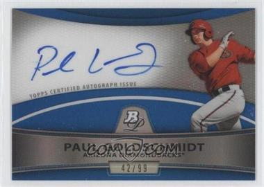 2010 Bowman Platinum Chrome Autograph Blue Refractor #BPA-PG - Paul Goldschmidt /99